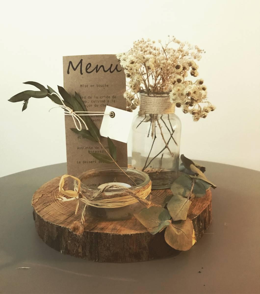 location de rondins de bois pour centres de tables au havre agence v nementielle au havre. Black Bedroom Furniture Sets. Home Design Ideas
